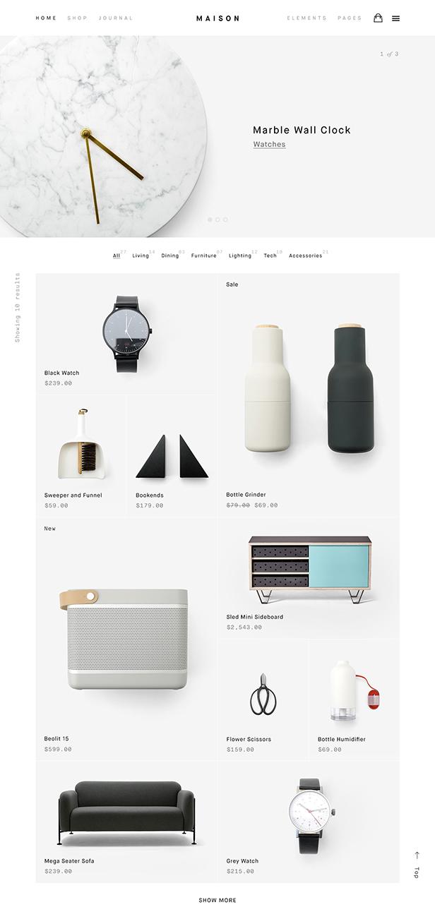 Maison - Minimalist eCommerce WordPress Theme