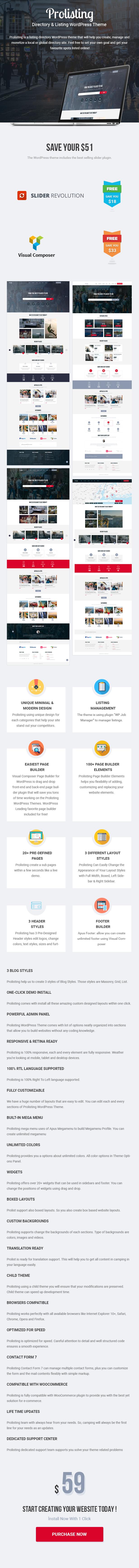 Prolist - Directory Listing WordPress Theme - 1