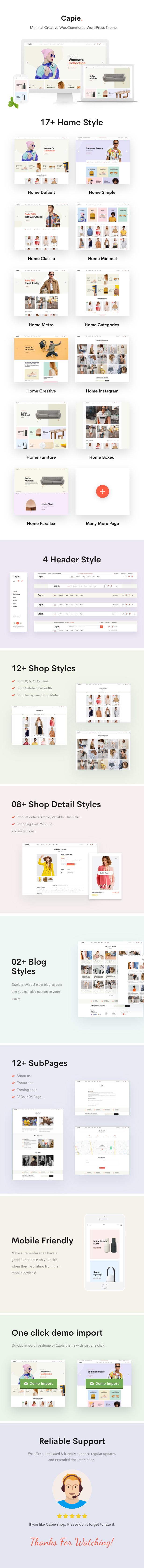 Capie - Minimal Creative WooCommerce WordPress Theme - 4