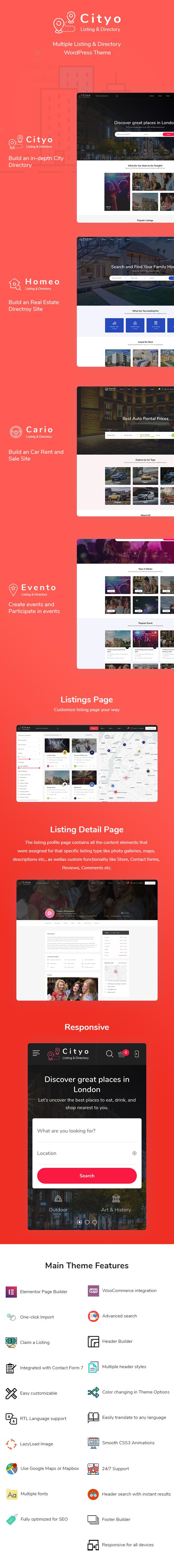Cityo - Multiple Listing Directory WordPress Theme - 5