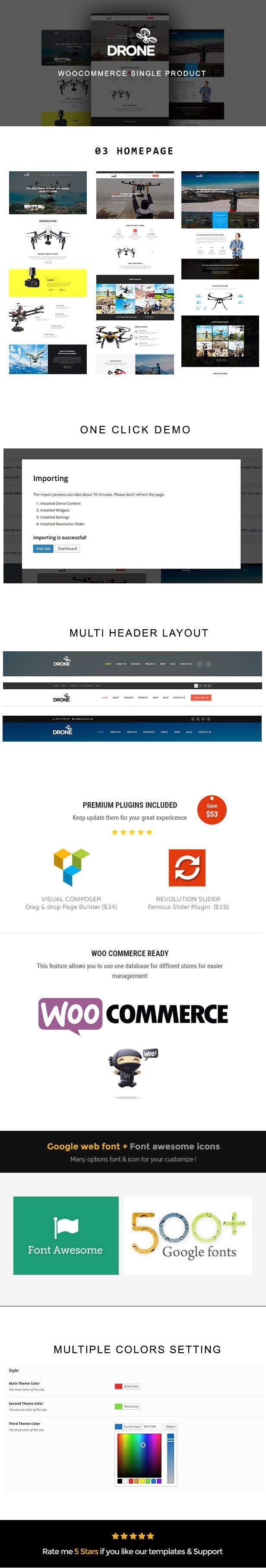 Drone - Single Product WordPress Theme - 1